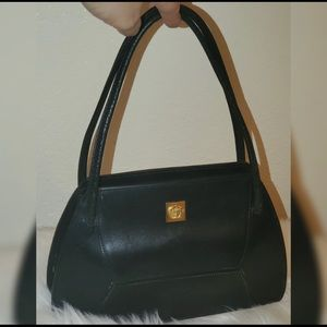 Gianni Versace Gold Medusa Hand Bag